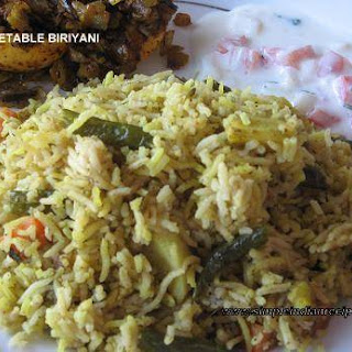 Vegetable Biryani Vegan Recipes
