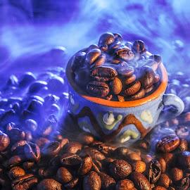 Hot coffee beans by Dumitru Doru - Food & Drink Ingredients ( aroma, fresh, coffee beans, food, beans, drink, coffee, hot, morning, restaurant, hot coffee beans )