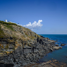 Lizard point by Cornish Nige  - Landscapes Waterscapes ( cliffs, lighthouse, rocks, clouds, sea )