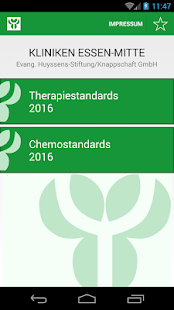 Therapiestandards KEM - screenshot