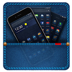 Blue Jeans Pocket Fabric Theme Icon