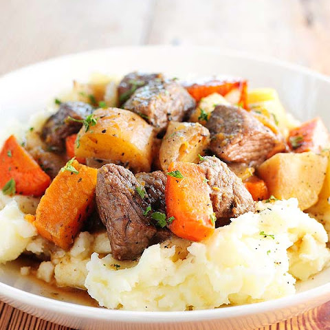 Beef Stew with Roasted Winter Vegetables