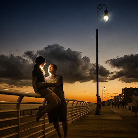 Shining of Emotions by Chris Mare - People Couples ( love, color, sunsets, dusk, couples, engagement )