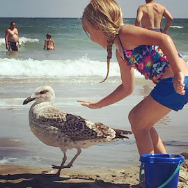 seagull tamer by Sarah Beth - Babies & Children Children Candids