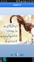 Screenshot of Urdu Aqwaal-e-Zareen Quotes