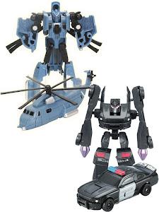Набор роботов-трансформеров S, Полицейская машина и Вертолет