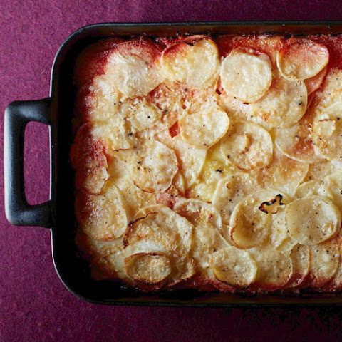 Ombré Potato and Root Vegetable Gratin