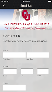 OU College of Education - screenshot
