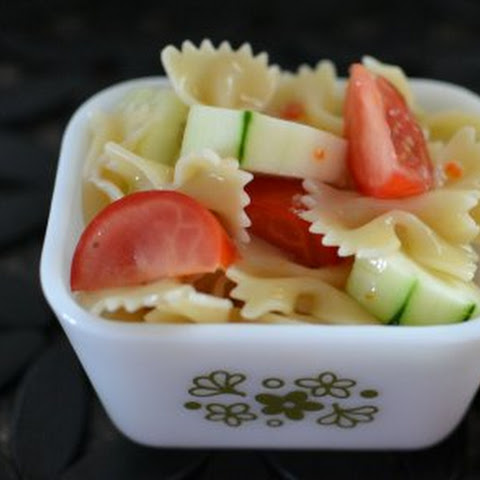 Cucumber and Tomato Bowtie Pasta Salad