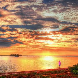 Dunedin Causeway, Florida. by Edward Allen - Landscapes Cloud Formations