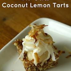No Bake Gluten Free Coconut Lemon Tarts
