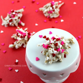 White Chocolate Valentine Haystack Cookies