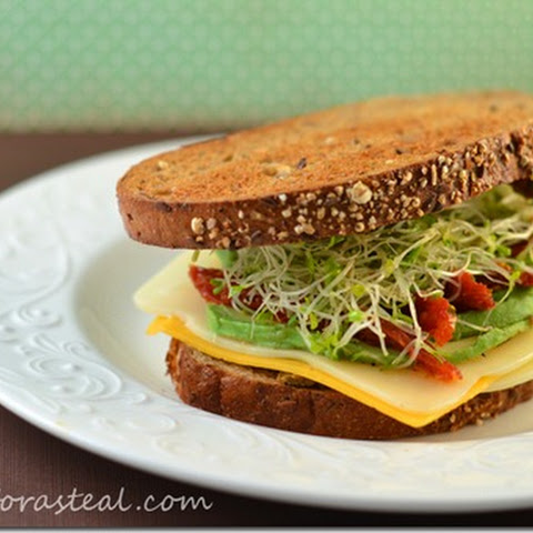 Emeril's Three Cheese Veggie Sandwich