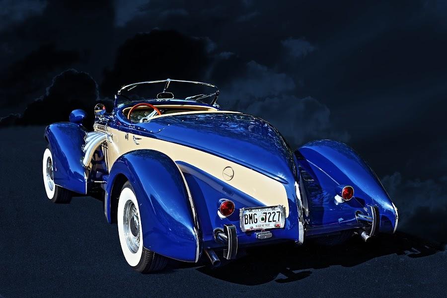 Auburn by JEFFREY LORBER - Transportation Automobiles ( cars car photos, jeffrey lorber, gateway classic cars, blue car, auburn, lorberphoto )