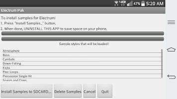 Screenshot of Electrum Pak Future House