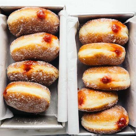 doughnuts with vanilla custard chocolate cream filled vanilla sugar ...