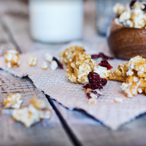 Cranberry-Orange & White Chocolate Caramel Popcorn