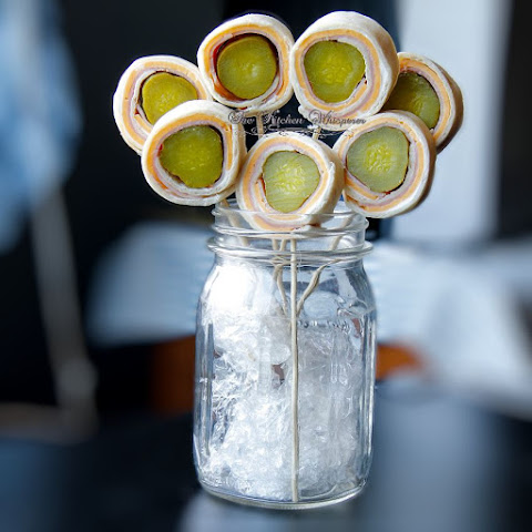 Pickle Pinwheel Pops (Tortilla Ham Rollups)