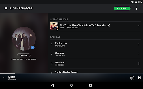 Free Download Spotify Music APK for Samsung