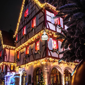 Noël à Colmar by Pierre Husson - Public Holidays Christmas ( christmas lights, night, france, colmar, city,  )