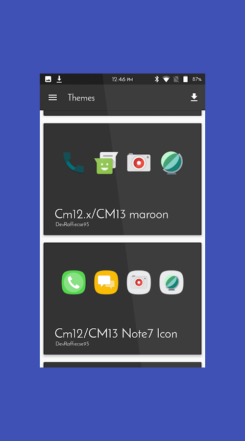Cm12 cm13 icon Material N7 Screenshot 3
