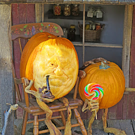Halloween Pumpkins by Nancy Young - Public Holidays Halloween ( orange, store, pumpkin, carving, halloween,  )