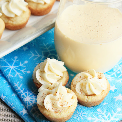 Eggnog Frosted Sugar Cookie Cups