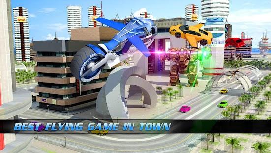 Flying Bike Transformer Robot for pc