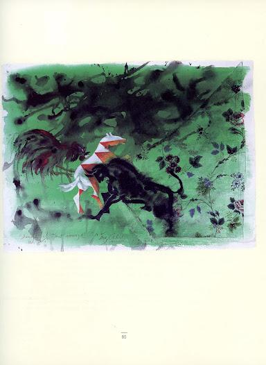 Donde el toro avanza Técnica mixta sobre papel 57 x 76 cm Miami 1998