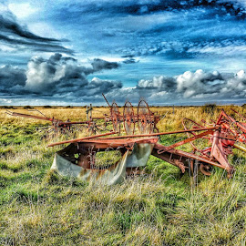 Farming by Haukur Guðmundsson - Instagram & Mobile Android ( #rusty, #old, #farming, #sky, #iceland #nature )