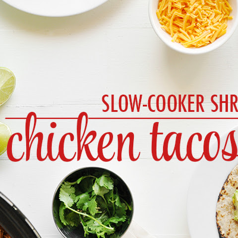 Slow-Cooker Shredded Chicken Tacos