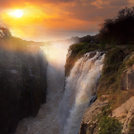 by Chris Coetzee - Landscapes Travel ( waterfall, victoria falls, africa, namibia )