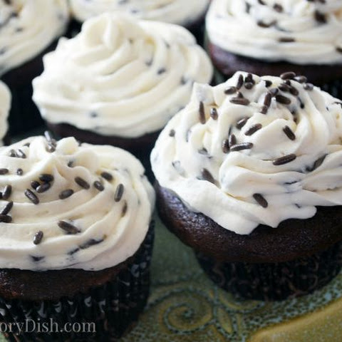 Devil's Food Cupcakes with Chocolate Chip Buttercream