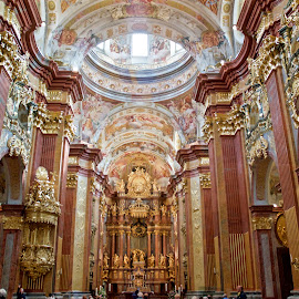 Stift Melk Abbey Church, Austria by Austin Speaker - Buildings & Architecture Places of Worship ( catholic, baroque, monastery, melk, wachau, austria, abbey )