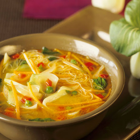 Vietnamese Vegetable Tofu Noodle Soup with Bok Choy