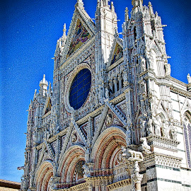 Church front by Jim Antonicello - Buildings & Architecture Places of Worship ( florence, church, italy )