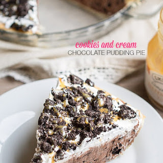 Cookies and Cream Chocolate Pudding Pie
