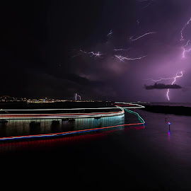 Storm brewing by Jack Tindall - Abstract Light Painting