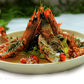 Prawn dish by Nikesh Ponnen - Food & Drink Plated Food ( foodies, indianfoods, foodie, food, foodphotogrphy )