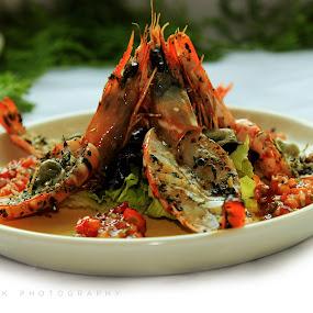 Prawn dish by Nikesh Ponnen - Food & Drink Plated Food ( foodies, indianfoods, foodie, food, foodphotogrphy )