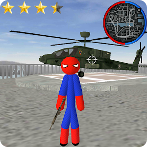 Spider Stickman Rope Hero Gangstar Crime PC Download / Windows 7.8.10 / MAC