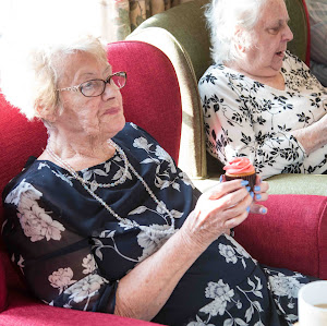 Relaxed Elderly People In a Perfect Home Care Centre In Whiston Hall UK