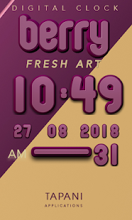 Berry digital clock - screenshot