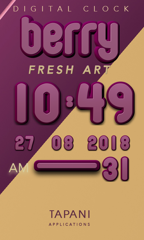 Berry digital clock Screenshot 0