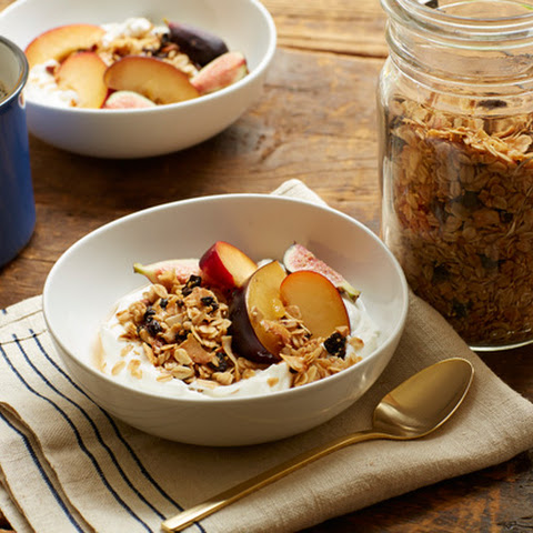 Cherry and Coconut Granola with Yogurt
