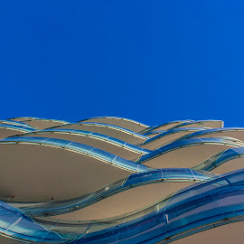 Waves by Paulo Lopes - Buildings & Architecture Other Exteriors ( sky, blue, waves, troia, beach )