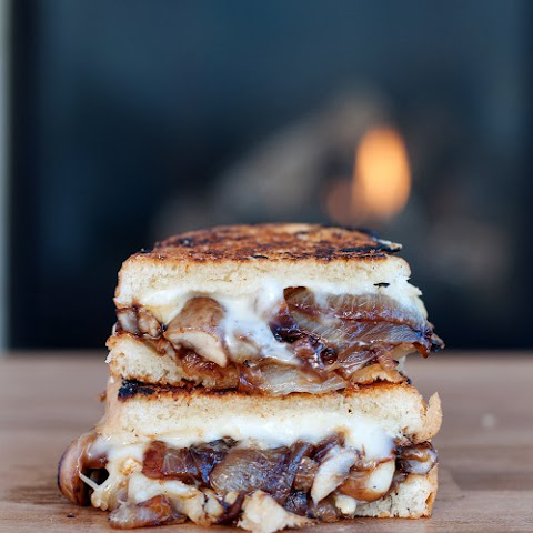 Caramelized Onion & Mushroom Brie Grilled Cheese
