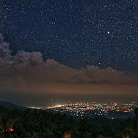 Manado city from above by Henry Suwardi - Landscapes Starscapes