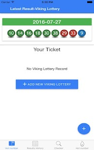 Viking Lotto result checker - screenshot