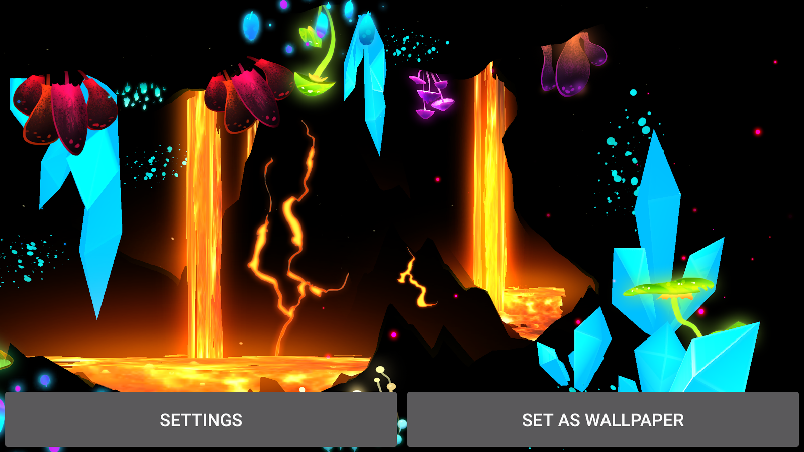 3D Fantasy Epic Lava Cave LWP Screenshot 12